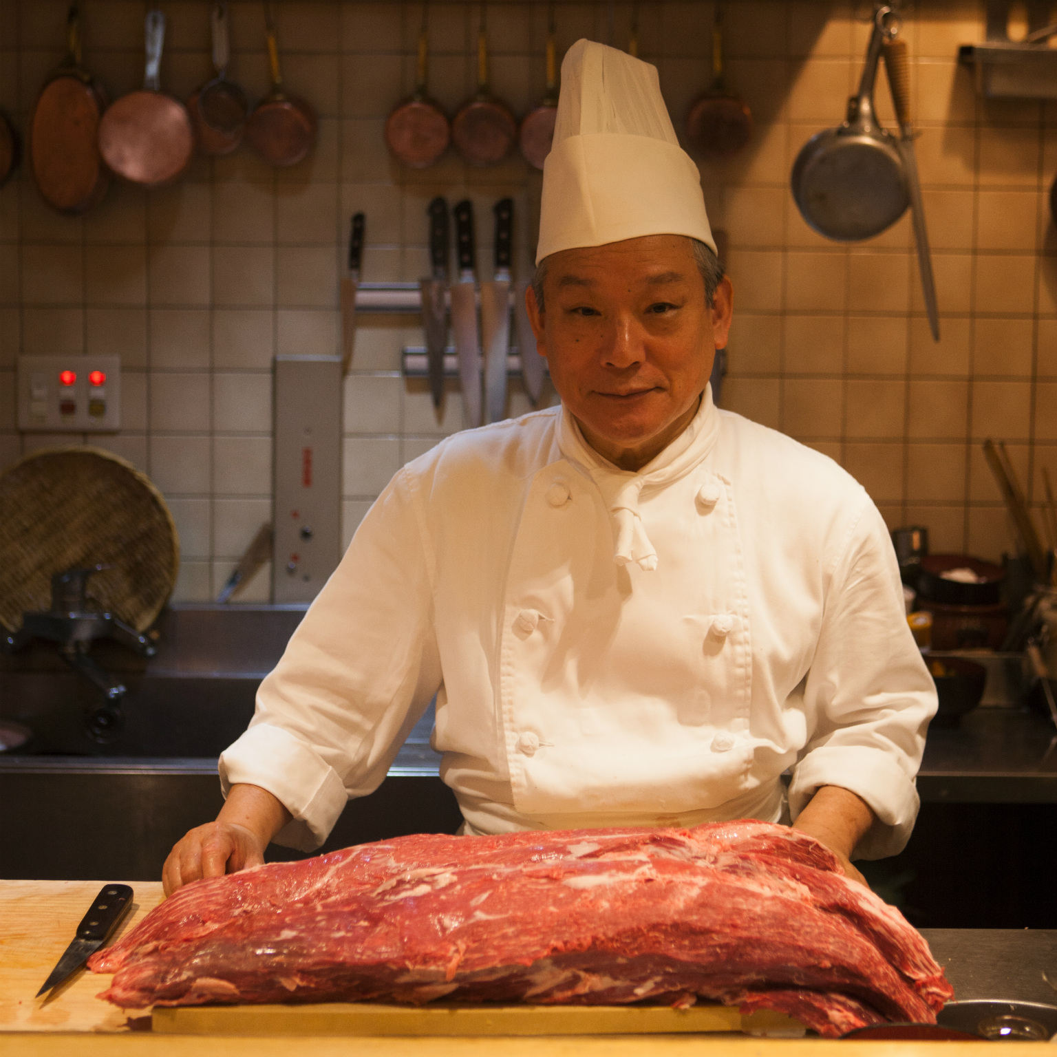 Fine Japanese beef in the sensitive hands of an affable chef