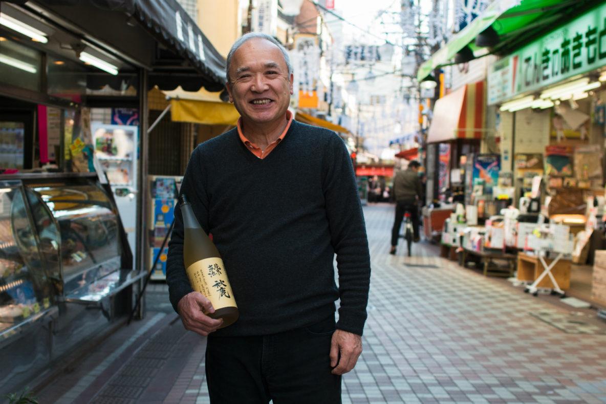 Sake Specialist Fujio Honma of Honma Saketen, Sake Store