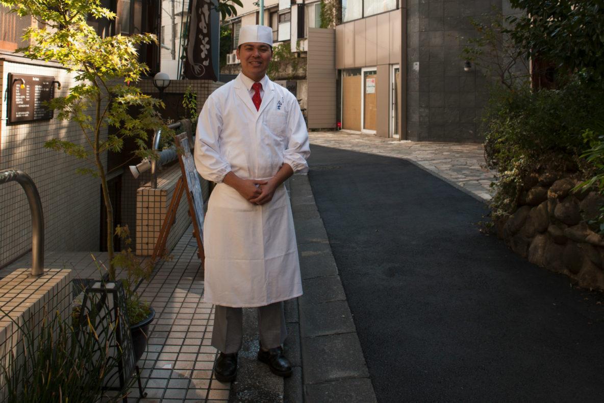 TKazuhito Motoyoshi chef at empura Motoyoshi, Tempura restaurant