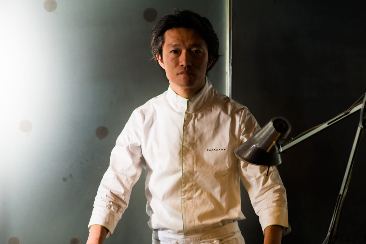 Takazawa, in an elegant enclave of Akasaka, dinner for only a discerning few. Yoshiaki Takazawa, Chef.