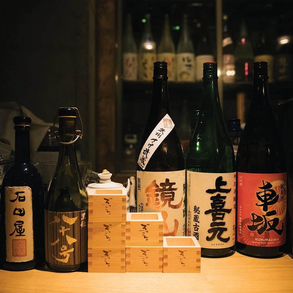 Sake Bottles for Sake testing event